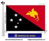 Bandera País de Papua Nova Guinea.
