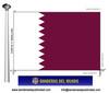 Bandera País de Qatar.