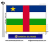 Bandera País de la República Centreafricana.