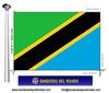 Bandera País de Tanzania.