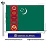 Bandera País de Turkmenistan.