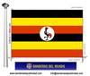Bandera País d'Uganda.