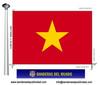 Bandera País del Vietnam.