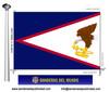 Bandera País d'Samoa Americana.