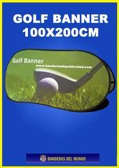 SOPORTE PUBLICITARIO GOLF BANNER 100X200CM
