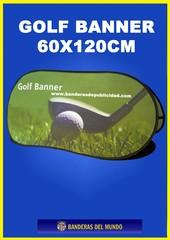 SOPORTE PUBLICITARIO GOLF BANNER 60X120CM