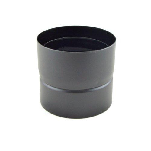 Tubo antigoteo para la condensación en negro mate.