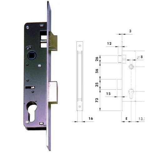 Cerradura Iseo Perfil metálico 740 3H1603 23 mm