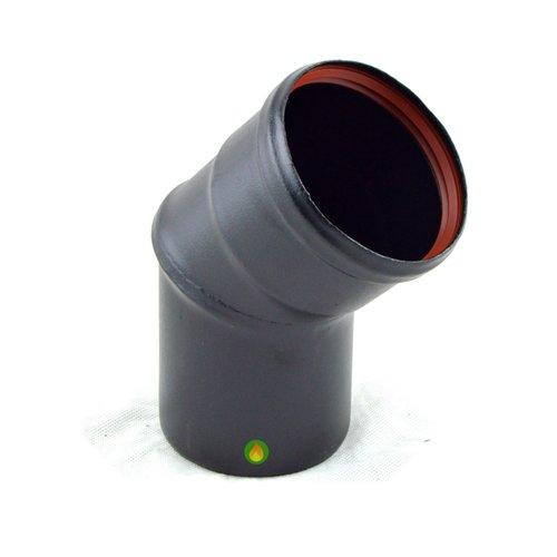 Codo 45º 80 mm pellet vitrificado negro