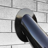 Embellecedor para tubo 45º vitrificado negro brillo