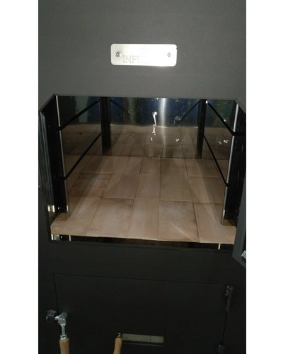 Interior inox y ladrillo horno leña B