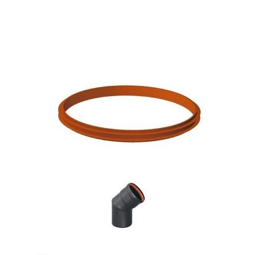Junta bilabial para tubo estufa de pellet de 80 mm
