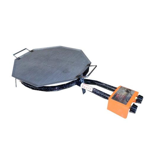 Plancha octogonal de acero pulido para paellero de gas