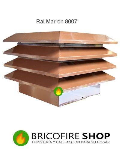 Sombrerete estatico aspirador marrón RAL 8007