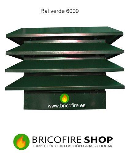 Sombrerete remate chimenea en Color Ral verde 6009