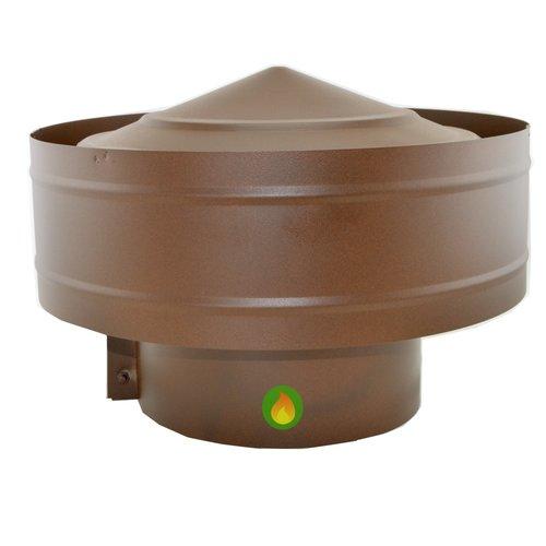 Sombrerete antirrevoco ajustable en marrón oxido texturado