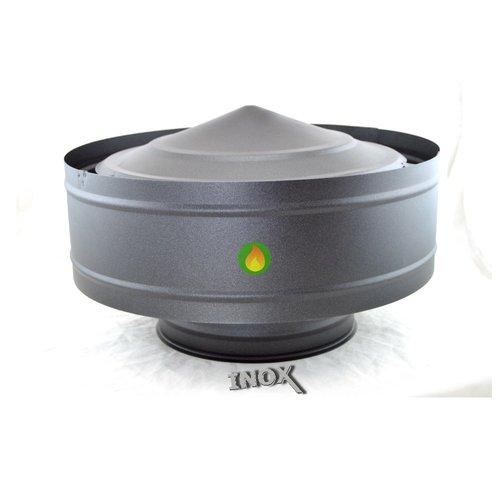 Sombrerete antirrevoco inox para tubo de doble pared negro forja