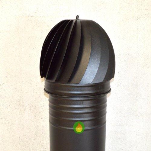 Sombrerete aspirador giratorio negro forja con tubo