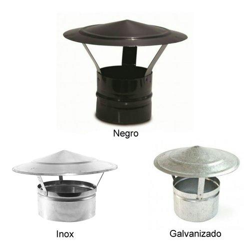 Sombrerete chino galvanizado, negro, inox
