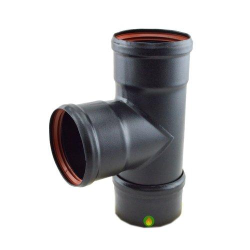Te 90º para tubo de pellet 80 mm