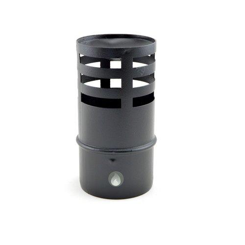 Sombrerete terminal de pellet horizontal inox negro mate