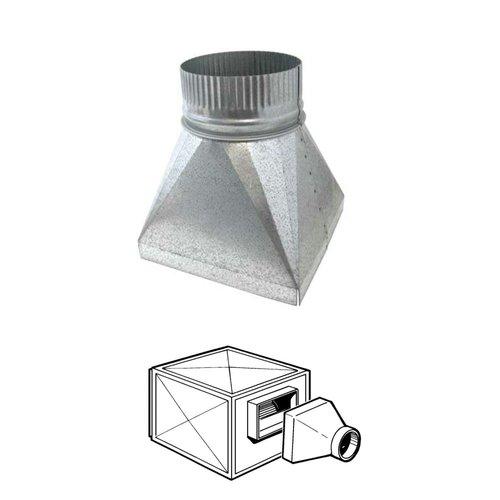 Tolva Galvanizada para caja de ventilación