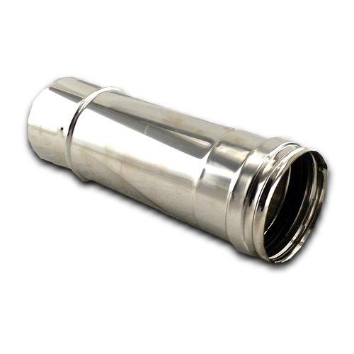 Tubo inox de pellet de 25 cm diametro 80 mm. Acero inox 316