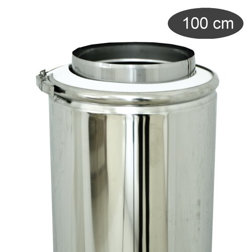Tubo doble pared inox inox 100 cm
