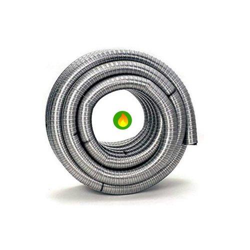 Tubo flexible estufas de pellet, inox 316 interior liso.