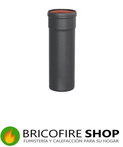 Tubo vitrificado negro mate pellet 80 50 cm