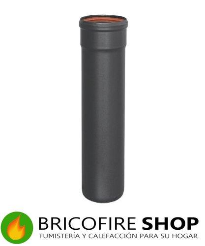 Tubo vitrificado negro para estufas de pellet. 80 mm, 100 cm