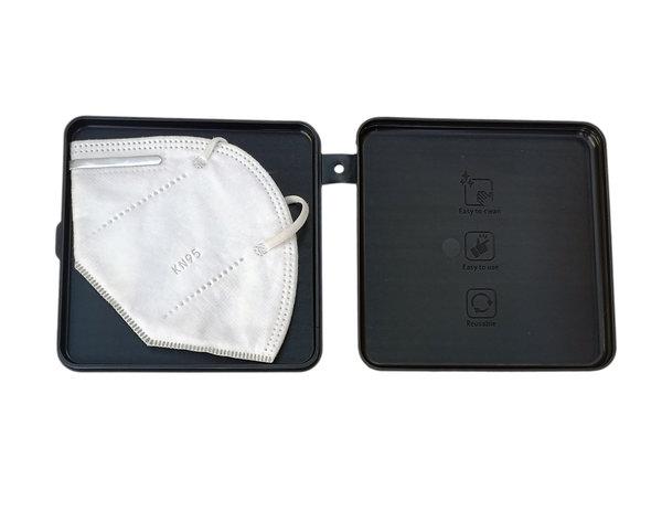 Ideal para Guardar Tus mascarillas Color Gris ECODEPIL Porta mascarillas para Ni/ños Protecci/ón asegurada F/ácil de Limpiar Pack de 2 Estuches Caja para mascarillas Reutilizable