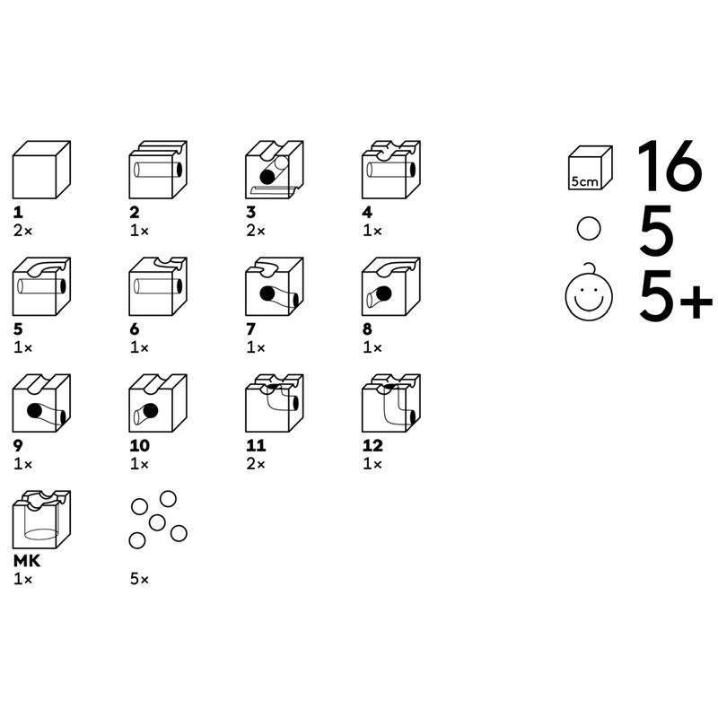 16 cubos cuboro en 12 funciones