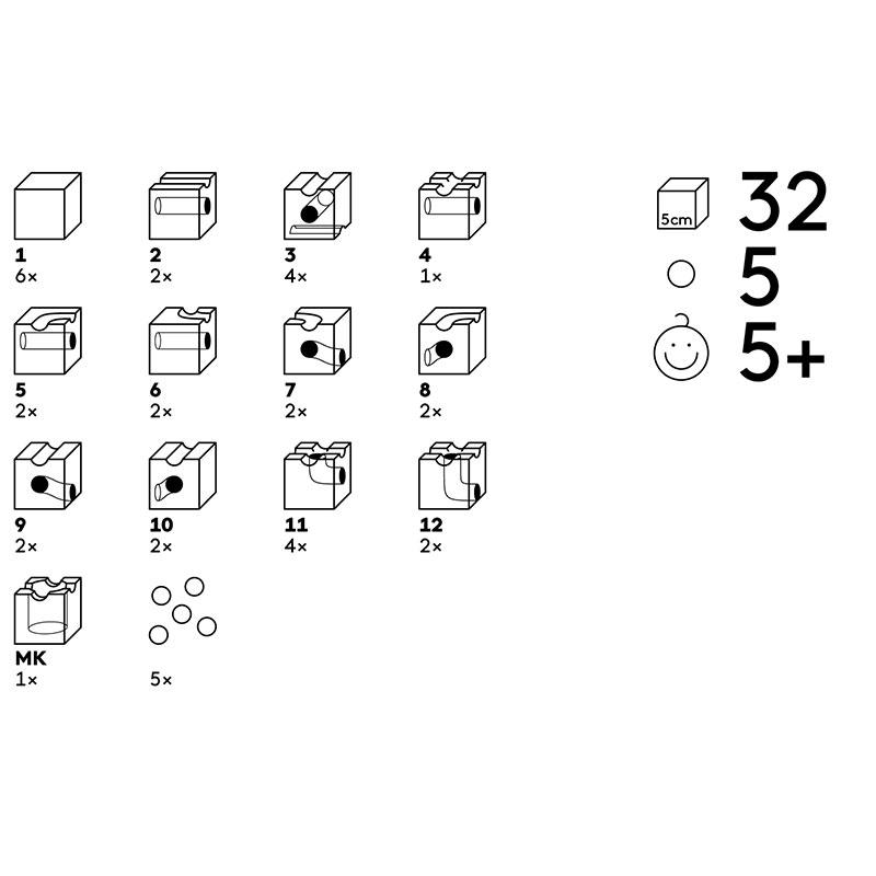 32 cubos cuboro en 12 funciones
