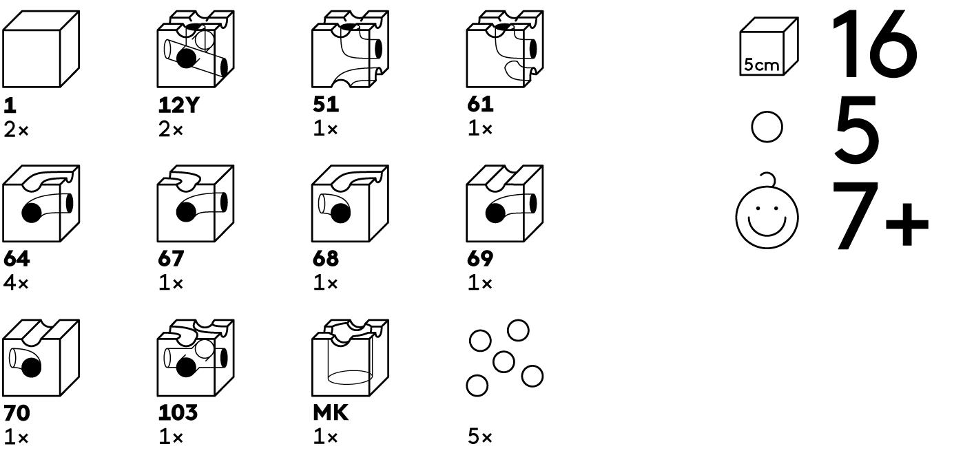 16 cubos cuboro en 11 funciones