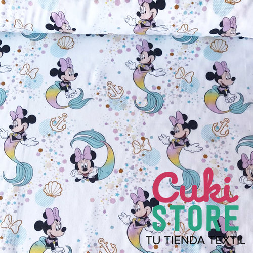 ALGODON 100% DISNEY MINNIE SIRENA