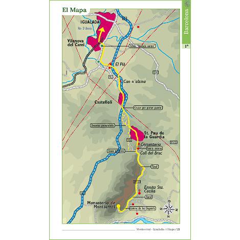Etapa del Camino de Santiago Catalán, de la guía práctica del Camino Catalán y Camino Jacobeo del Ebro.