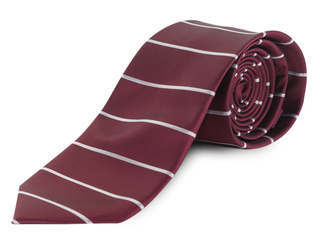 Corbata raya burdeos