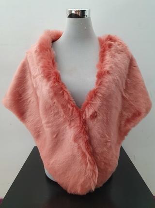 Estola de pelo ancha rosa