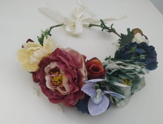 Corona de flores Ref. 010 tonos varios