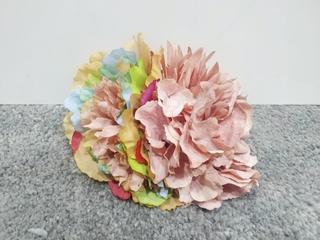 Ramillete multicolor y rosa teñido