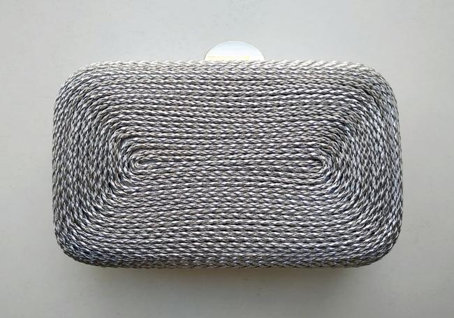 Bolso de fiesta plata cordón