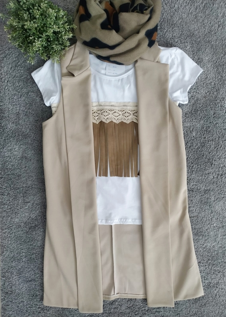 Chaleco / Chaqueta sin mangas beige