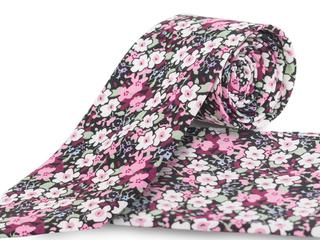 Corbata estampado flores Ref.04