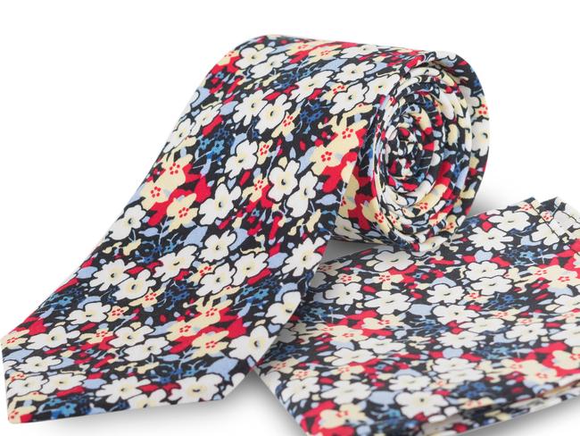 Corbata estampado flores Ref.02