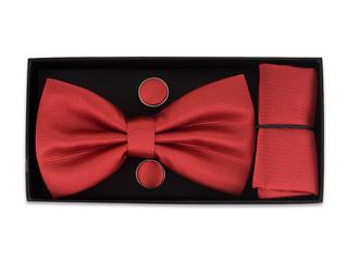 Pajarita, pañuelo y gemelos roja