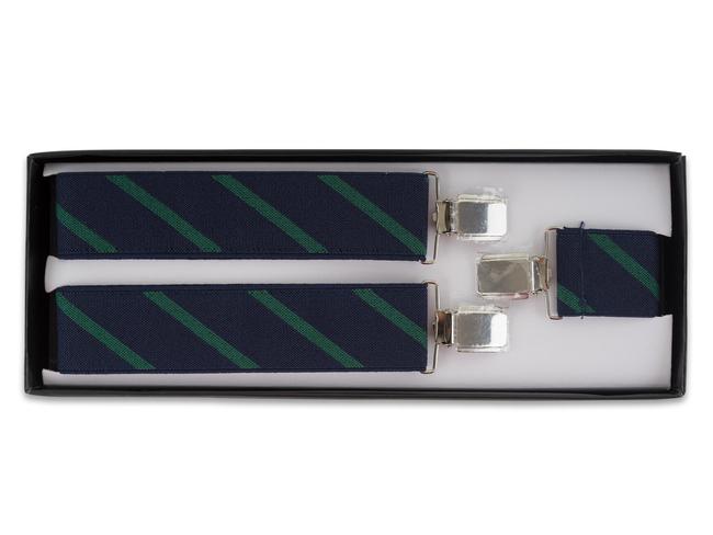 Tirantes raya azul marino y verde
