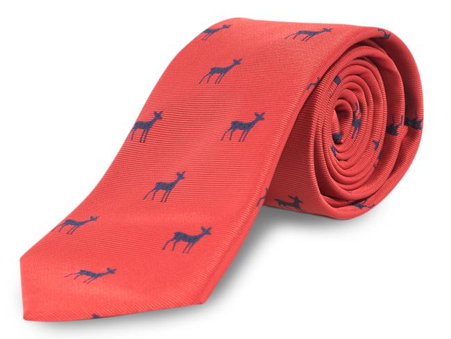 Corbata dibujos roja