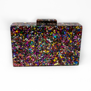 Bolso Clutch fiesta confeti color