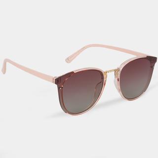 Gafas de sol tono pastel detalle dorado